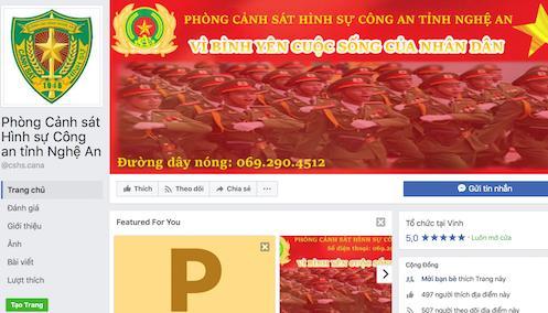 Cảnh sát hình sự Nghệ An lập Facebook tiếp nhận thông tin tố giác tội phạm - Ảnh 1