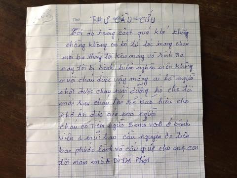Bé trai 3 tháng tuổi bị bỏ rơi bên vệ đường cùng bức thư cầu cứu - Ảnh 1