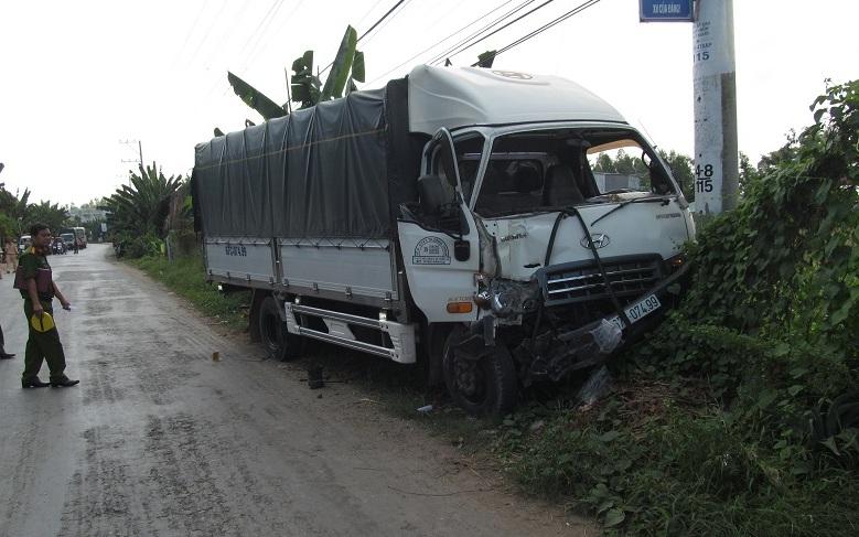 Đại úy CSGT bị xe tải tông tử vong khi đang làm nhiệm vụ - Ảnh 1