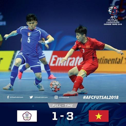 Đánh bại chủ nhà Đài Loan, tuyển futsal Việt Nam vào tứ kết châu Á - Ảnh 1