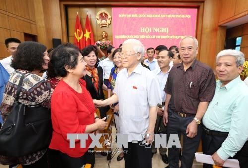 Tổng Bí thư Nguyễn Phú Trọng tiếp xúc cử tri Hà Nội - Ảnh 4