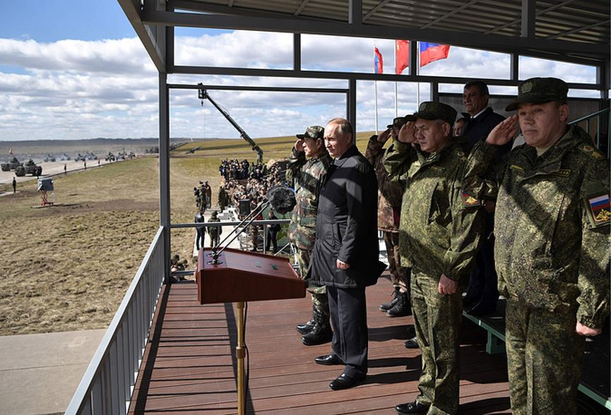 Tổng thống Putin thị sát cuộc tập trận lớn nhất lịch sử hiện đại của nước Nga - Ảnh 1