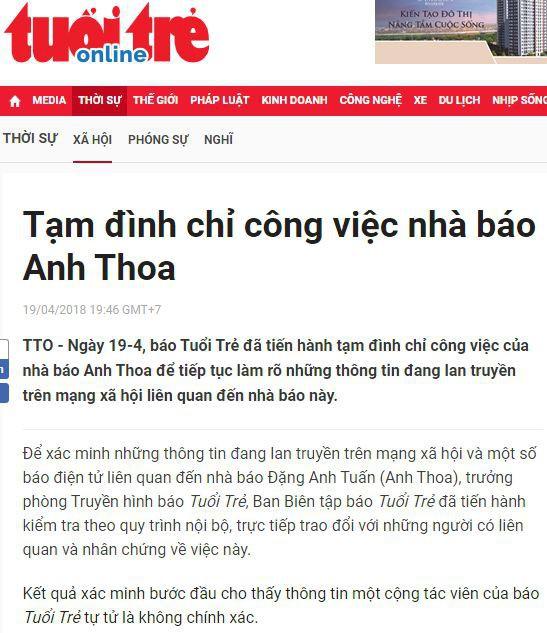 Công an kết luận vụ nhà báo Anh Thoa bị tố xâm hại tình dục - Ảnh 1