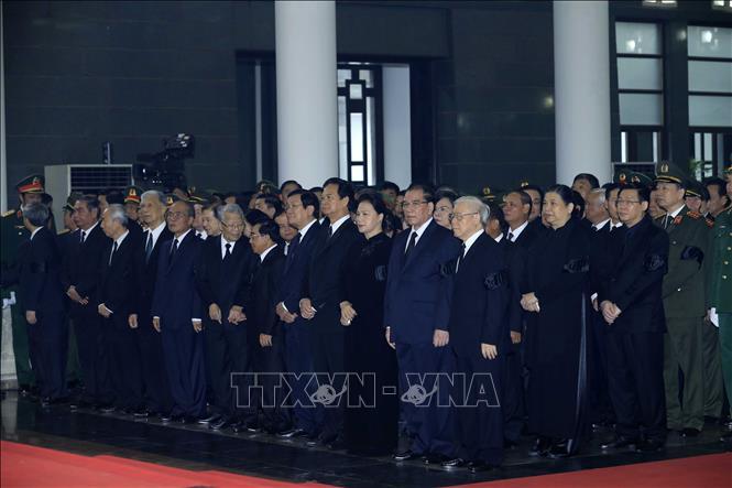 Những hình ảnh đầu tiên tại Lễ Truy điệu Chủ tịch nước Trần Đại Quang - Ảnh 2