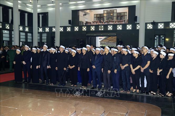 Những hình ảnh đầu tiên tại Lễ Truy điệu Chủ tịch nước Trần Đại Quang - Ảnh 4