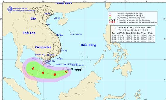 Áp thấp nhiệt đới giật cấp 10 có khả năng mạnh lên thành bão - Ảnh 1