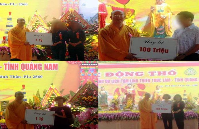 """Đại đức Thích Trúc Thái Minh nói gì về hàng tỷ đồng nhận quyên góp xây """"chùa Ba Vàng"""" Quảng Nam? - Ảnh 1"""