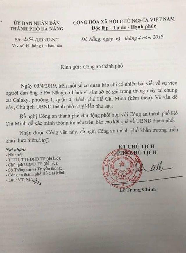Nghi án bé gái bị sàm sỡ trong thang máy: UBND TP Đà Nẵng yêu cầu xác minh - Ảnh 1