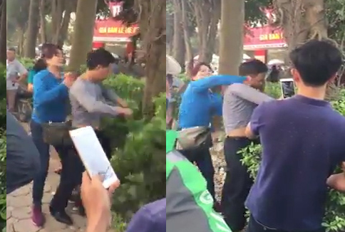 Hà Nội: Xác minh thông tin người phụ nữ đánh người đàn ông sàm sỡ mình trên xe buýt - Ảnh 1