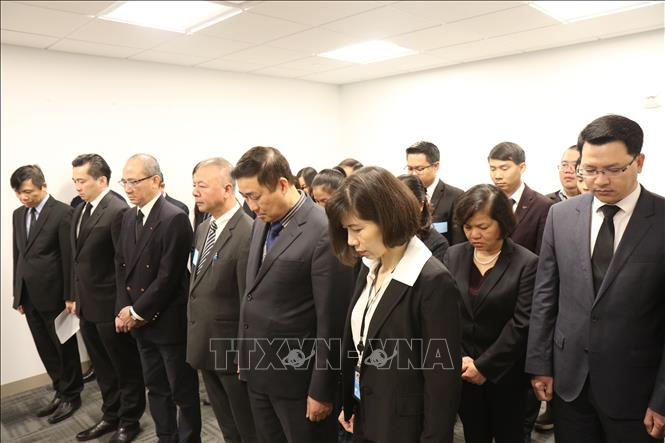 Phái đoàn Đại diện thường trực Việt Nam tại Liên hợp quốc tổ chức Lễ viếng nguyên Chủ tịch nước Lê Đức Anh - Ảnh 1
