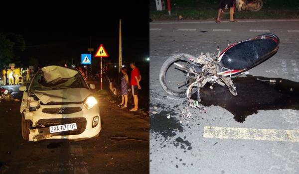 Ô tô va chạm kinh hoàng xe máy trên quốc lộ, 2 vợ chồng tử vong thương tâm - Ảnh 1