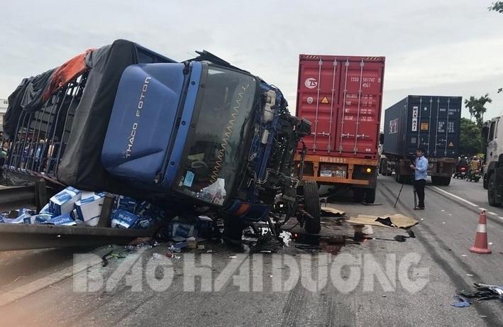 Vụ xe tải đè 5 người tử vong ở Hải Dương: Hé lộ tốc độ chiếc ô tô trước khi gây tai nạn kinh hoàng - Ảnh 2