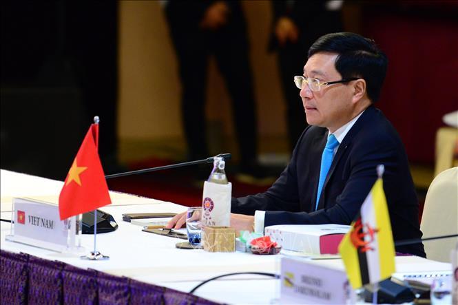 Việt Nam tham dự các Hội nghị đa phương và song phương tại AMM-52 - Ảnh 1