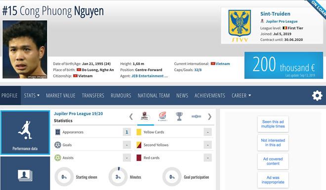 """Top 10 cầu thủ đắt giá nhất Việt Nam: Công Phượng """"qua mặt"""" Đoàn Văn Hậu - Ảnh 2"""