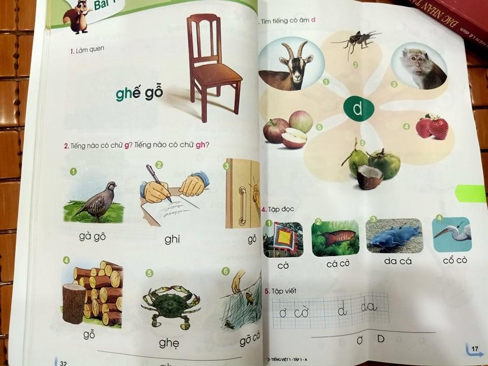 Sách giáo khoa Tiếng Việt lớp 1 mới: Đang trang 32 lại đến... trang 17 - Ảnh 1