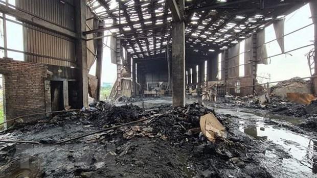 Nổ lò hơi trong xưởng sản xuất giấy ở Bắc Ninh, 1 người chết - Ảnh 1