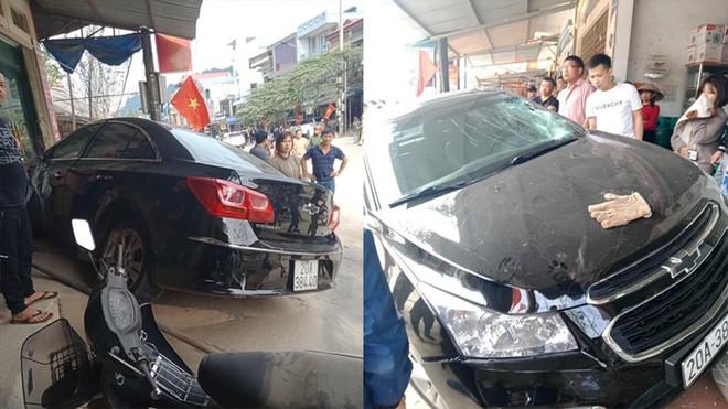 Vụ ô tô hất văng bé trai lên mái nhà ở Thái Nguyên: Tài xế chưa bằng lái, mượn xe đi ăn tiệc - Ảnh 1