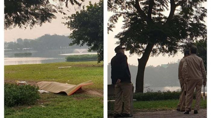 Thi thể người đàn ông ở bãi cỏ ven hồ: Nạn nhân cao 1,65 m, mặc áo phông cộc tay - Ảnh 1