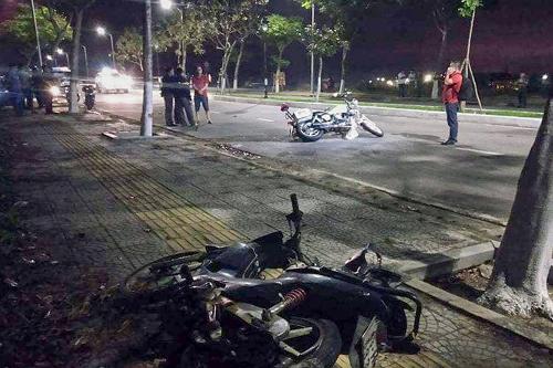 Vụ 2 cảnh sát Đà Nẵng hy sinh khi truy đuổi đua xe: Tạm giữ 8 đối tượng - Ảnh 1