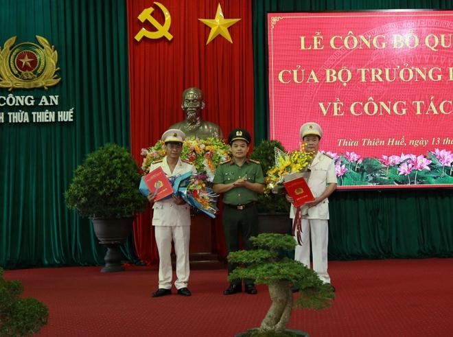 Phó GĐ Công an Hà Tĩnh và Quảng Bình được điều động làm Phó GĐ Công an Thừa Thiên - Huế - Ảnh 1
