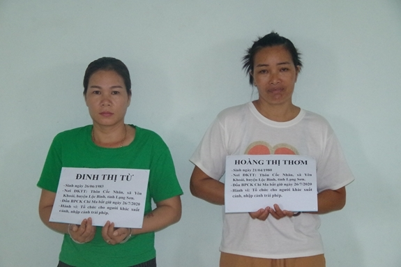"""Chân dung 2 """"nữ quái"""" vừa đưa 9 người Trung Quốc xuất nhập cảnh trái phép vào Việt Nam - Ảnh 1"""