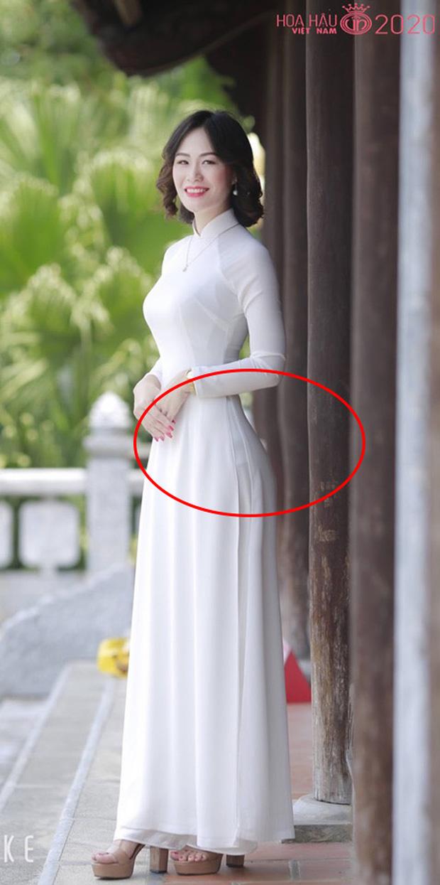 Bị chê kéo eo thon và vòng 3 căng đầy đến nỗi... méo cả cột, thí sinh Hoa hậu Việt Nam 2020 lên tiếng - Ảnh 1