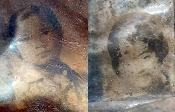 Khai quật hài cốt trong nông trường cao su, phát hiện 2 bức chân dung cô gái - Ảnh 1