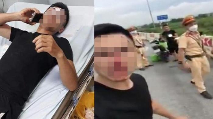 """Xác minh vụ CSGT Hà Nội bị """"tố"""" đấm chảy máu mũi người vi phạm giao thông - Ảnh 1"""