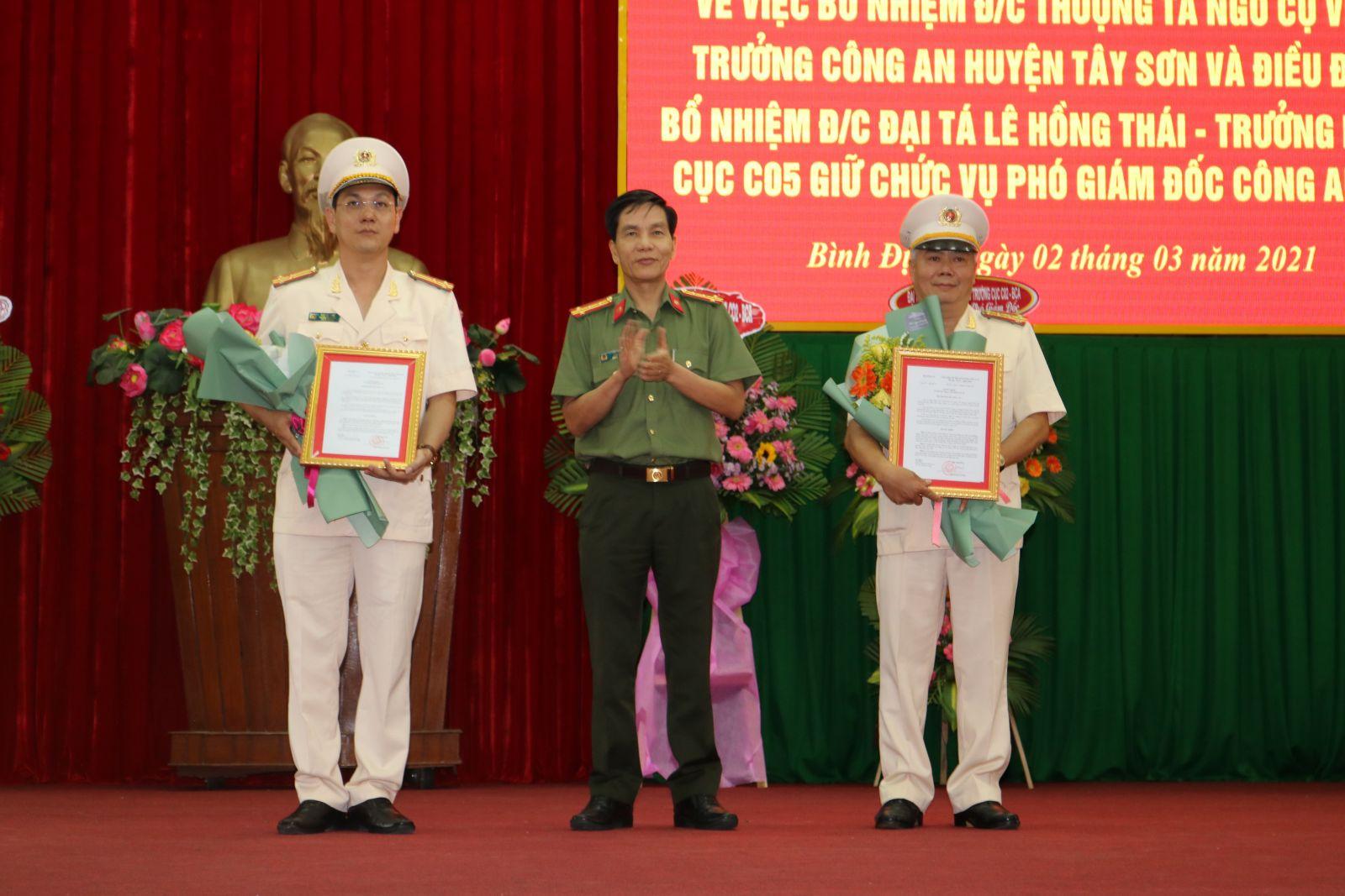 Hai Phó Giám đốc Công an tỉnh Bình Định vừa được bổ nhiệm là ai? - Ảnh 1