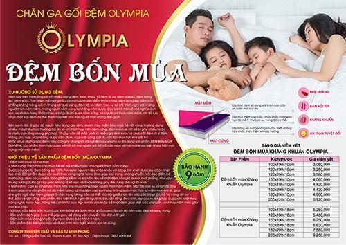 Thegioidemonline.com ra mắt dòng sản phẩm mới - Đệm Bốn Mùa Olympia - Ảnh 2