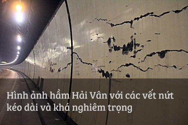 Xuất hiện những vết nứt lớn trong hầm đường bộ dài nhất Đông Nam Á - Ảnh 1