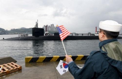 Triều Tiên đe dọa đánh chìm tàu ngầm hạt nhân USS Michigan của Mỹ - Ảnh 2