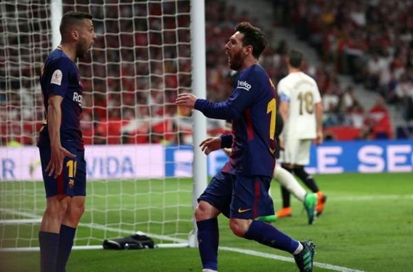 """""""Gã khổng lồ"""" Barcelona vô địch Cúp Nhà vua Tây Ban Nha - Ảnh 1"""