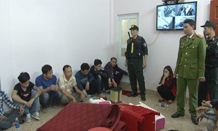 Sới bạc gắn camera dày đặc ở Ninh Bình đã bị đánh sập - Ảnh 1