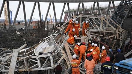 Nền nhà máy nhiệt điện Trung Quốc bất ngờ đổ sập, 11 người thương vong - Ảnh 1