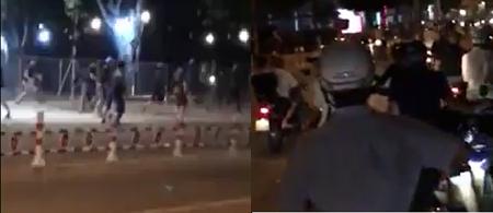 Hơn 40 thanh niên vác hung khí hỗn chiến trên phố - Ảnh 1