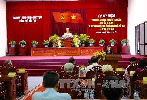 Phó Thủ tướng dự lễ kỷ niệm 72 năm Ngày Cách mạng tháng Tám và Quốc khánh 2/9 tại Cần Thơ - Ảnh 1