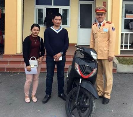 Mất xe SH ở Hà Nội, cặp vợ chồng tìm thấy ở Quảng Ninh - Ảnh 1