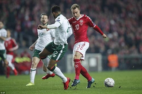 """Play-off World Cup 2018: Đan Mạch bất lực để Ireland """"cầm chân"""" - Ảnh 1"""