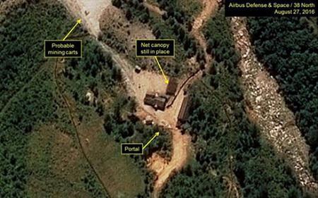 Triều Tiên chuẩn bị thử hạt nhân có sức nổ tương đương 282.000 tấn thuốc nổ - Ảnh 1