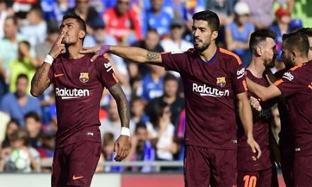 Paulinho tỏa sáng, Barca giữ vững ngôi đầu - Ảnh 1