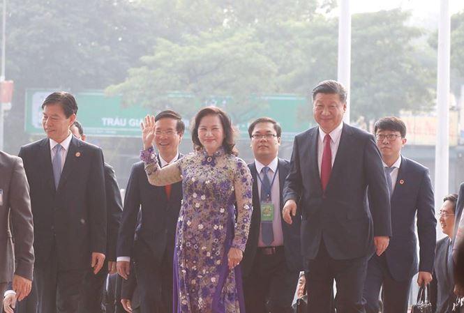 Chủ tịch Trung Quốc Tập Cận Bình dự lễ khánh thành Cung hữu nghị Việt – Trung - Ảnh 2