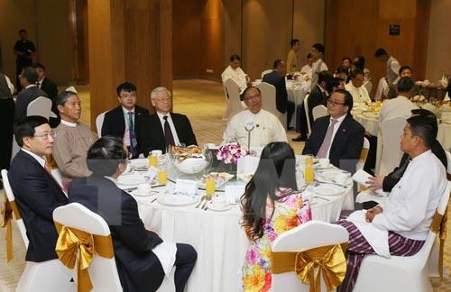 Tổng Bí thư Nguyễn Phú Trọng gặp các DN Việt Nam và Myanmar - Ảnh 1