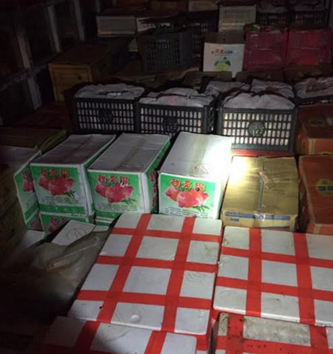 Bắt lô trái cây Trung Quốc nhập lậu gắn mác Mỹ - Ảnh 1