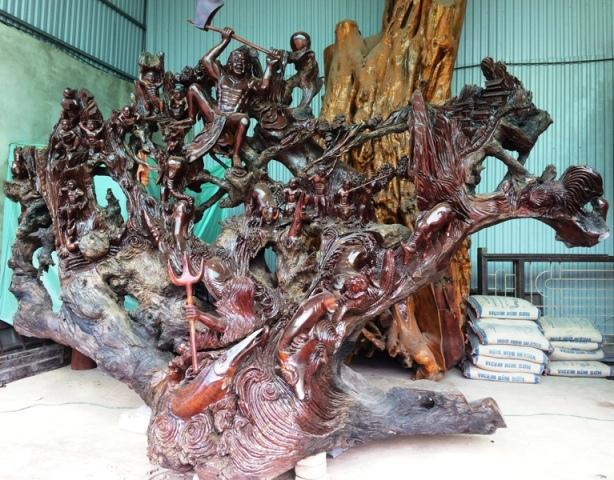 """Những tác phẩm từ gỗ quý của đại gia Việt khiến nhiều người """"hoảng hốt"""" khi nghe giá - Ảnh 8"""