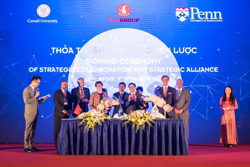 Vingroup ký kết thỏa thuận hợp tác chiến lược với Đại học Cornell và Pennsylvania - Ảnh 1