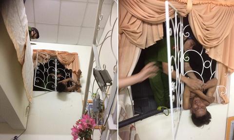 Video: Tên trộm bị mắc kẹt, kêu cứu trong cửa sổ nhà dân lúc nửa đêm - Ảnh 1
