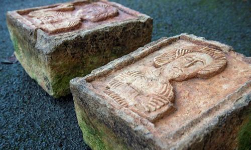 Hai tảng đá vứt lăn lóc ngoài vườn lại là báu vật khiến gia chủ hoảng hốt - Ảnh 1