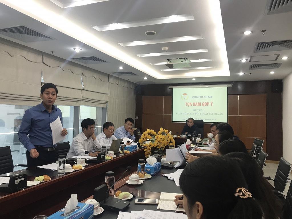 Hội Luật gia Việt Nam tổ chức tọa đàm góp ý kiến dự thảo luật Hòa giải, đối thoại tòa án - Ảnh 1