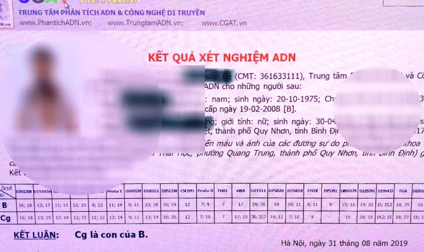 """Bị """"tố"""" bỏ con rơi ở Bình Định, cựu PGĐ sở ở Cần Thơ đề nghị tòa xác nhận cha con - Ảnh 1"""
